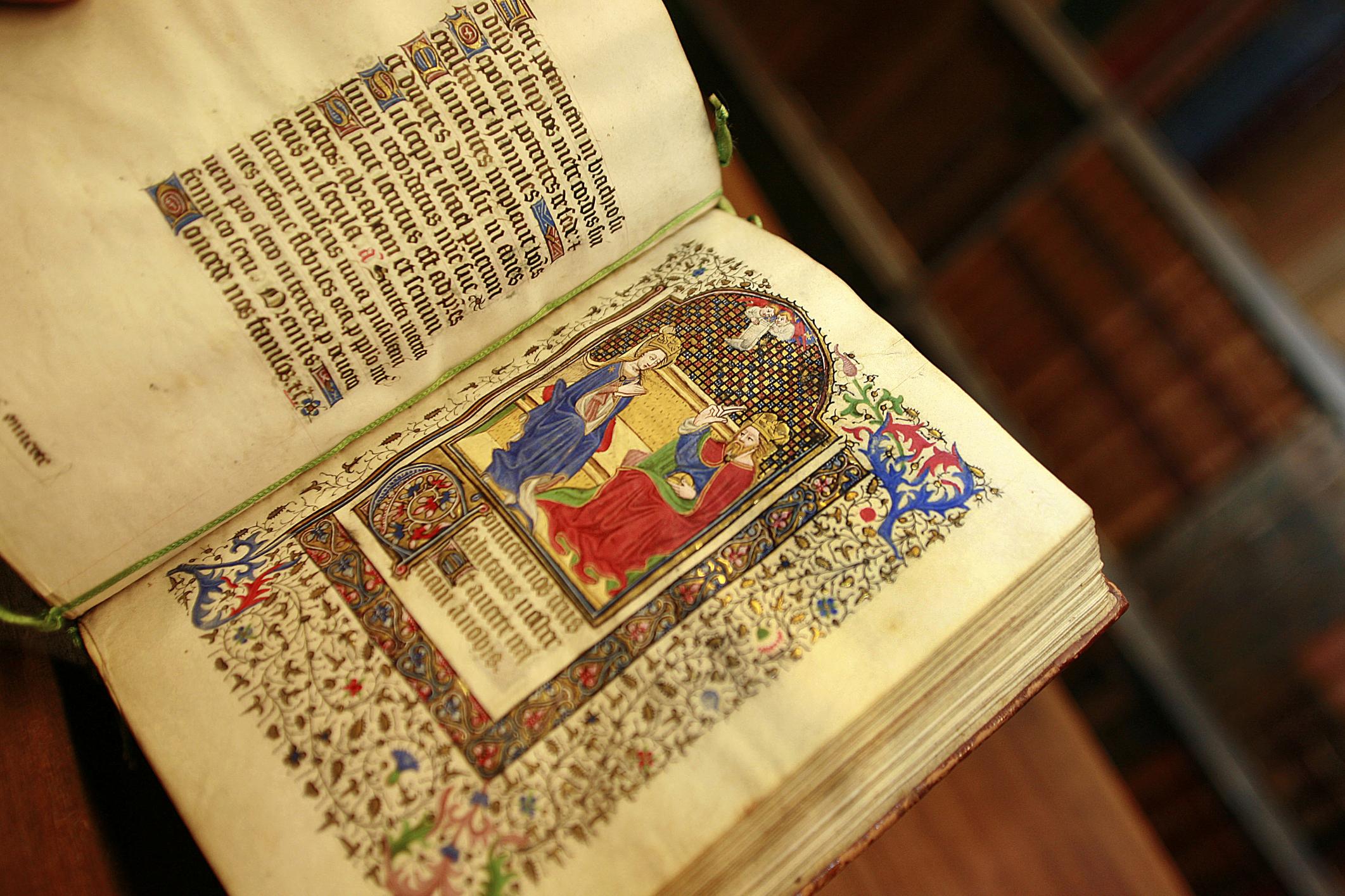 Codice. Manuscrito iluminado.