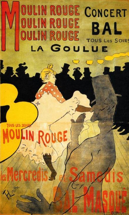 Le Molin Rouge por Lautrec, 1891.