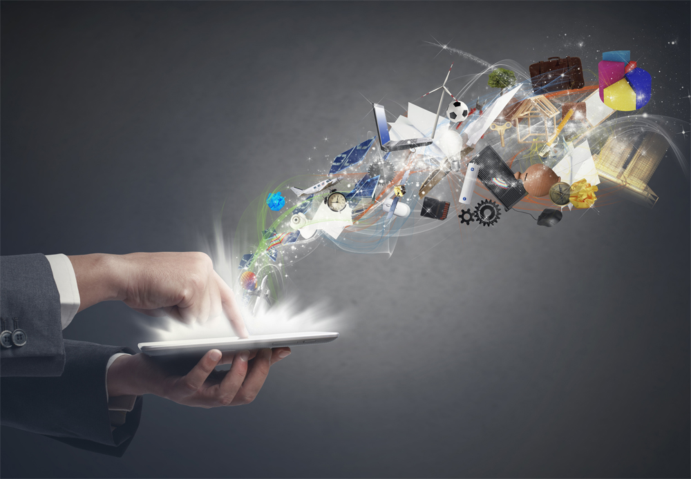 Concept of business creativity with a tablet